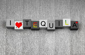 I Love Tequila, sign series for liquor, drinks and alcohol. — Stok fotoğraf