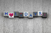 I Love Holidays, sign series for vacation and holiday trips. — Stock Photo