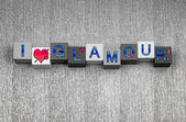 I Love Glamour, feminine sign series for fashion and modelling. — ストック写真
