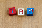 Try ...! Rugby football score, six nations or world cup. — Stock Photo