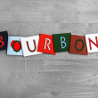 Stock Photo: I Love Bourbon, sign series for whiskey, alcohol and drink.