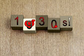 Love for 1930, sign series for calendar years and decades. — Stockfoto