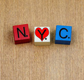 Love for NYC, New York City, sign series for places in America. — Stock Photo