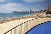 Playa de Poniente, Benidorm, Alicante, Spain. — 图库照片