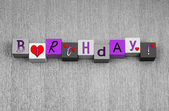 Happy Birthday sign, banner or design for card & greetings. — Stockfoto