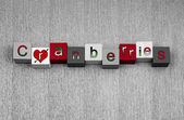 Love for cranberries, sign series for cooking, fruit & healthy eating. — Stock Photo
