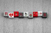 Love for raspberries, sign series for cooking, gardening, fruit & healthy eating. — Foto de Stock