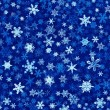 Snowflakes in Blue - Stock fotografie