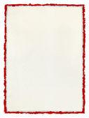 Deckled papel com borda vermelha esfarrapada. — Foto Stock