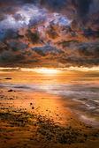 Dramatic Pacific Sunset — Stock Photo