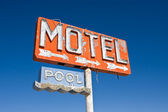 Vintage Motel Sign — Stock Photo