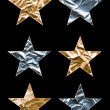 Large Metallic Stars — Stock Photo