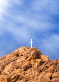 Mountain Cross and Light — Stock Photo