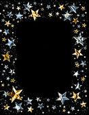 Shiny Star Frame — Stock Photo