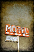 Grungy Motel Sign — Stock Photo