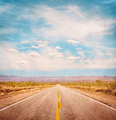 Textured Desert Road — Stock Photo