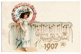 1907 Postcard — Stock Photo