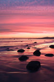 Butterfly Beach Sunset, Santa Barbara — Stock Photo