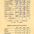 Stock Photo: Report Card from 1965