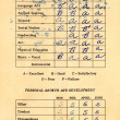 Report Card from 1965 — Stock Photo