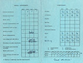 Old Report Card — Stock Photo