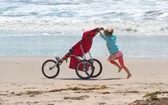 三輪車の女の子 — ストック写真