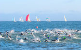 Race to the Buoy2 — Stock Photo