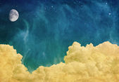 Sihirli ay ve bulutlar — Stok fotoğraf