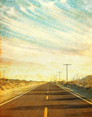 Grungy Desert Road — Stock Photo