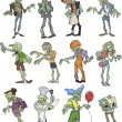 Zombie group - Stock Vector