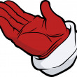 Stock Vector: Hand in red glove