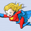 Super girl — Vector de stock #16492489