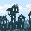 Vector de stock : Daylight town