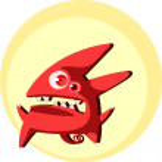 Little cute devil creature — Stock Vector