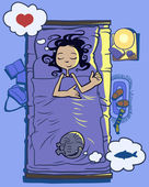 Good sleep — Stock Vector
