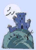 Castle of a vampire — Stock Vector