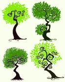 Fantasy trees — Stok Vektör