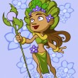 Stockvector : Goddess of flowers