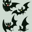 Stock Vector: Night bats