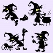 Witches activity — Imagen vectorial