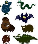 Ilustración de diferentes animales — Vector de stock