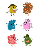 Illustrations of colorful funny cartoon — Stock Vector