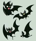 Night bats — Stock Vector