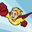 Cartoony flying superhero - Imagen vectorial