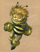 Bee boy — Stock Photo