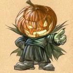 Pumpkin Head — Stock Photo