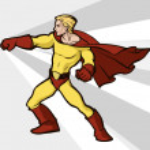 Superman in bright costume — Stock Vector #26915993