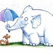 Kind elephant — Stockfoto #30770537