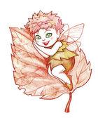 Autumn fairy — Stock Photo