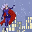 Super girl — Vector de stock #40335759